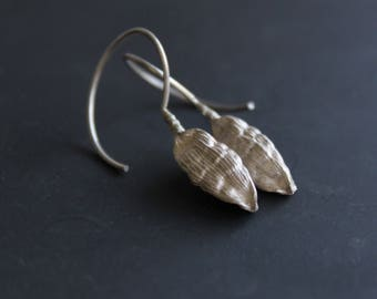 Nature earrings -Sterling silver dangle earrings -Cardamom earrings-Botanical jewelry -Nature jewelry -Gift for her -Gift for chef or cooks