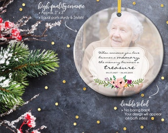 Remembrance Ornaments, Memorial Gifts, Memorial Christmas Ornament, Remembrance Ornament, Forever in Our Hearts, In Memory // C-P55-OR ZZ2