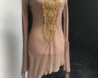 Chiffon mini dress Stevie Nicks