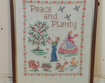 Vintage Cross Stitch, Embroidery Sampler