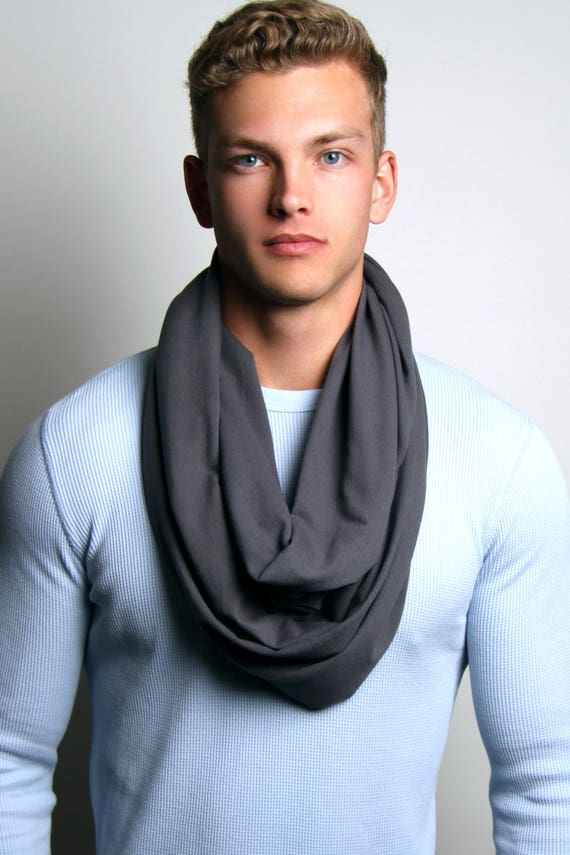 chunky knit scarves fashion button infinity men cowl tube item anvi design winter scarf gift warmer women s mens in neck from leo