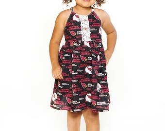 Team Collection Sport your favorite team -U Pick Team - Amsterdan Halter Dress size 6-12 mos up to girls size 12 - AZ Cardinals NFL football