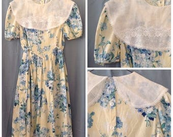 vintage 1980s / 1990s floral summer dress, size large
