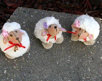 Lamb Toy, Lamb Plush Toy, Little Lamb For Mobile, Lamb Ornament, Lamb Baby Gift