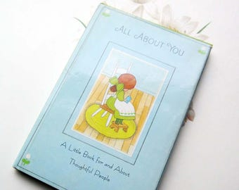 Vintage Hallmark Book * 1960's * All About You * Small Hardcover Book Cheerful * Thoughtful * Empathetic *