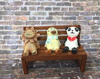Miniature Lion Panda Penguin / Terrarium Accessories/ Fairy garden Accessories/ Tiny animal/ Dollhouse pet