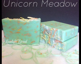 Unicorn Meadow Soap - Handmade Soap - Smells Like a Spring Meadow - With Silk! - Bar Soap - Artisan Soap -