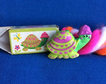 Vintage Avon Pin Pal Fragrance Glace Myrtle Turtle 1970's Fashion Clothing Accessory