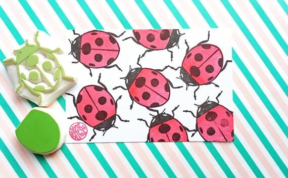 Ladybird Stamp Ladybug Insect Woodland Bug Hand
