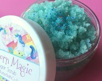Unicorn Magic Sugar Scrub | Fruit Loops | Organic | Scrub | Birthday | Sparkle | Glitter | Unique | Gift for Her | Sugar | Bath | Beauty |