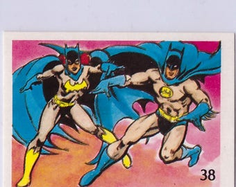 1976 DC Batgirl and Batman 38 Sticker in Mint Condition