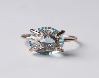 Aquamarine Gold Ring OOAK
