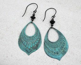 Patina Chandelier Earrings, Bohemian