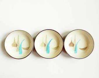 Vintage Mid Century Berry Bowls / Redwing Pottery Bowls / Jewelry Dish / Retro Mod Dessert Bowls