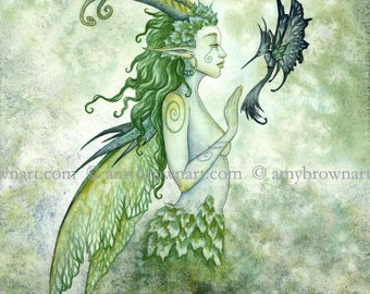 Fae Encounter fairy 8X10 PRINT by Amy Brown