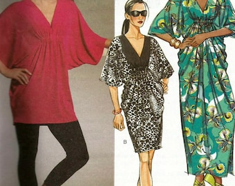 Butterick 5329 UNCUT Misses Caftan, Tunic top or Pullover Dress Coverup Sewing Pattern Size XSL-MED Bust 29.5-36