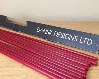 dansk designs red tiny taper candles