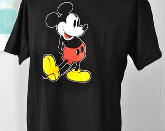Vintage Mickey Mouse Tee Tshirt Florida California Vacation Walt Disney World Tee XL