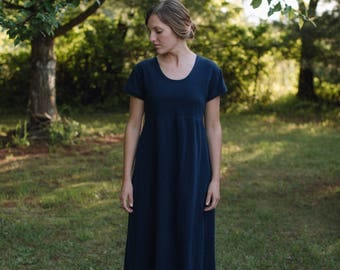 Women's Jersey Knit Empire Dress Handmade in the USA - Made to Order - Homestead