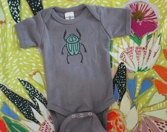 Slate Gray Beetle Onesie
