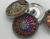 VITRAIL Czech Glass Daisy Button, 18mm Czech Glass Button, 18mm Button, Daisy Button, Czech Glass Daisy, Czech Glass Buttons,