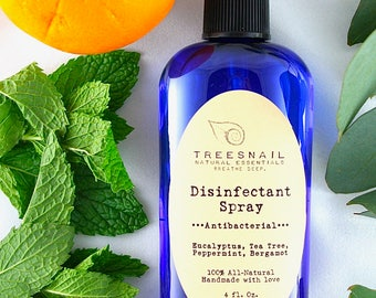 All-Natural Disinfectant Spray   Natural Cleaning   Gifts Under 10   Treesnail   Essential Oils   Disinfect   Cleaning Products