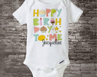 Birthday Shirt or Onesie, Personalized Happy Birthday to Me Shirt or Onesie with Child's Name, Happy Birthday to Me Shirt 08262011b
