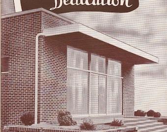 Moorman Cafeteria Dedication Souvenir Program c1952 Moorman Mfg Co Quincy IL