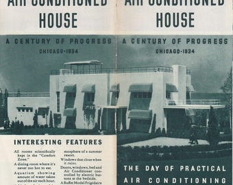 Frigidaire Air Conditioned House 1934 Century of Progress Chicago World's Fair Chiccago IL Illinois