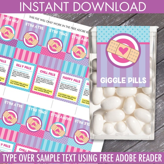Doc Mc Stuffins Tic Tac Labels - Silly Pills, Doc Birthday, Doctor/Nurse Party | Editable DIY Instant Download PDF Printable