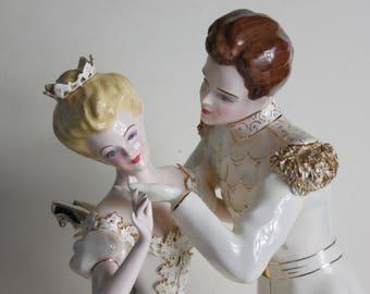 Rare Vintage Florence Ceramics Pasadena Figurine Cinderella Prince Charming