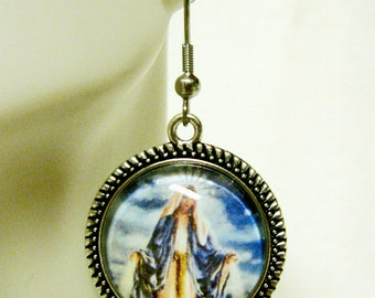 Miraculous medal earrings - AP06-048