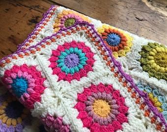 Boho Baby Blanket, Crocheted Baby Blanket, Bohemian Nursery, Boho Baby Bedding, Gypsy Baby Blanket, Nursery Bedding, Baby Shower Gift