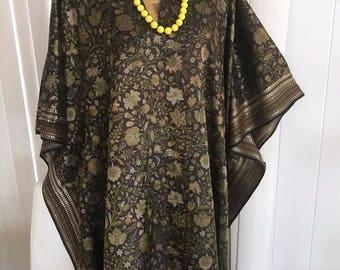 Mrs. Roper approved 1970's 1980's Caftan -- XL-2X --Boho