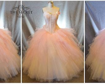 ombre wedding dress-blush pink wedding dress-pink bridal gown-gown-fairytale wedding gown-alternative wedding-plus size-the secret boutique
