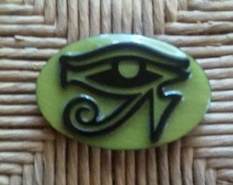 Eye of Ra Refrigerator Magnet olive Color