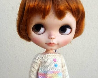Neo Blythe dress, mixed pastel colors, Jerry Berry, Pullip, Obitsu, Pure Neemo