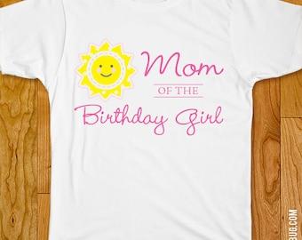 Sunshine Party Iron-On Shirt Design - Mom of the Birthday Girl / Dad of the Birthday Girl