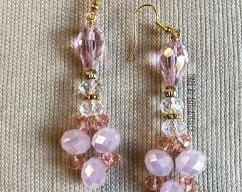 Pink Diva crystal shimmer earrings