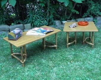 Vintage 60s 70s Bamboo Coffee U0026 End Table Set Furniture Mid Century Modern  Retro Tiki Atomic