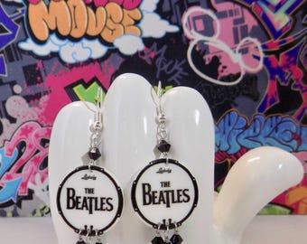 The Beatles Drum Head Dangle Earrings