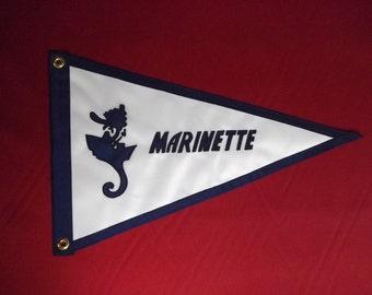 Marinette Boat Burgee Custom Flag Nautical Boating Gift for Him theflagchick