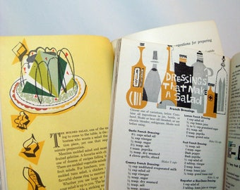 Salad Cookbooks 2 by H J Heinz and Good Housekeeping 1950s Illustrations