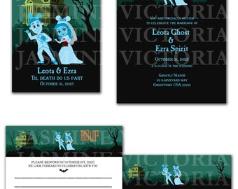 Haunted Mansion Disneyland Wedding Invitation, Save The Date, or RSVP Digital Files