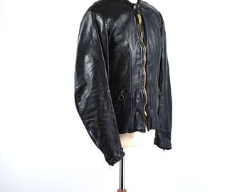 1970's Brooks Cafe Racer Jacket, Size 38, Brooks Detroit Michigan