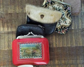 Instant Collection of  Six Vintage Coin Purses
