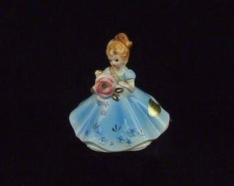 Vintage Josef Joseph Original April Diamond Birthday Porcelain Lady Figurine with Hang Tag and Paper Label