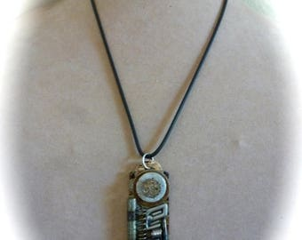 Big Sale 50% off Steampunk Pendant Industrial Abstract OOAK