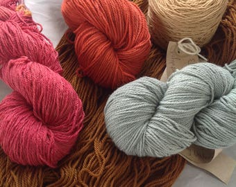YAK & WOOL Lamb PALETTE ~ Colours by nature ~ plant dyed Boutique yarn