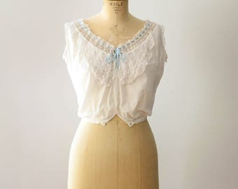Antique 1910's Cotton & Lace Camisole